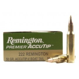 MUNICION METALICA CALIBRE 222 REMINGTON ACCUTIP 50 GRAINS