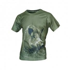 Camiseta jabalí manga corta