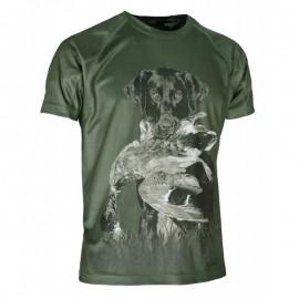 Camiseta Perro cobrando manga corta
