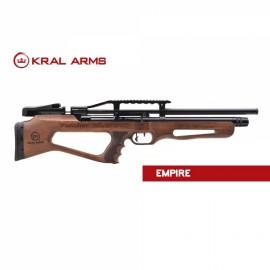 Carabina PCP KRAL Puncher Empire madera cal. 5,5 mm - 24 Julios con supresor de sonido.