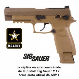 Pistola Sig Sauer M17 ASP Coyote CO2 - 4,5 mm Balines / Bbs Acero - Blowback