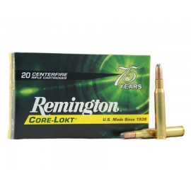 MUNICION METALICA CALIBRE 222 REMINGTON CORE LOKT 50 GRAINS