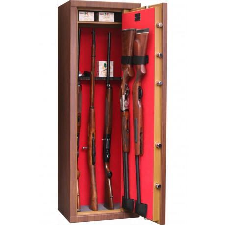 Armero INFAC LMKP10 para 7 armas largas color Madera