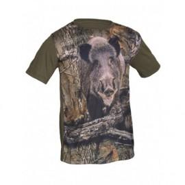 Camiseta poliéster algodón Jabalí