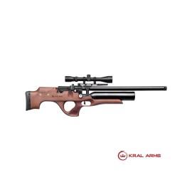 Carabina PCP KRAL Puncher Knight Madera 4,5/5,5mm - 24 Julios (Incluye 2 cañones 4,5 - 5,5mm)