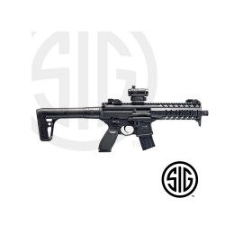 Subfusil Sig Sauer MPX ASP Black + Red Dot Co2