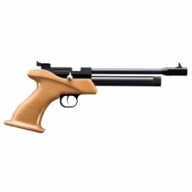 Pistola Zasdar CP1 Co2 multi-tiro empuñadura madera picada cal. 4,5 mm Balines