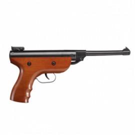 Pistola Zasdar S2 muelle grip madera cal. 4,5 mm Balines