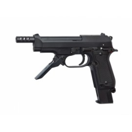 Pistola M93R II, semi/rafaga 3 tiros Negra - 6 mm GBB