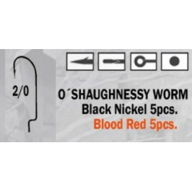 Anzuelo recto O'Shaughnessy Worm 2/0